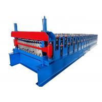 Quality Hydraulic Cutting Roof Roll Forming Machine , Metal Roofing Sheet Making Machine for sale