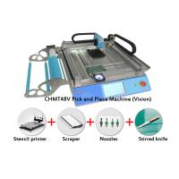 Vision System CMT 48V SMT Pick and Place Machine Kit With Stencil Printer Nozzles
