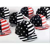 Quality Painting USA Flag Cool Snapback Hats For Men , Structured Blank Logo Boys Snapback Hats for sale