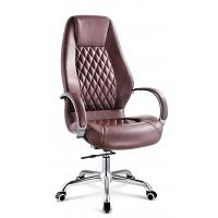 Quality Brown Luxury Executive Office Chairs With Arms And Wheels Customized Size for sale