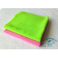 Quality Durable Green Microfiber Cleaning Cloth 100% Polyester , Endless Edge for sale