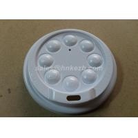 Buy White Plastic Paper Cup Lid With Button For Coffee Cups / Cold Cups at wholesale prices