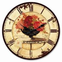 China Wooden Craft Clocks on sale