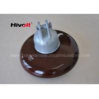 11 Kv 33 Kv Brown Porcelain Suspension Insulator For Distribution Lines
