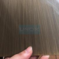 Quality SUS304 Hairline Bronze Stainless Steel Sheet ,PVD Color Decoration Sheets 1250mm 1500mm Copper, Brass, Bronze for sale