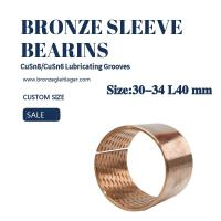 Buy cheap Tin Bronze Sleeve Bushing 30-34 L40 from wholesalers