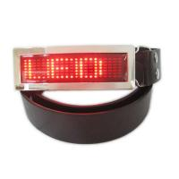 Quality LED runing signs and message belt buckle for sale