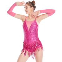 Quality Stunning Holograms Sequined-Fringes Illusion V-Neck Tap Jazz Costume Dance Dress Performance Outfits for sale