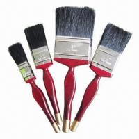 Quality Paint brush with wooden or plastic handle, customized sizes and logos are accepted for sale