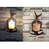 Quality Maso Single Lamp Holder American Domestic Market Popular Retro Vintage Wall Sconce E14 Base Lamp MS-W2001 Wooden Color for sale