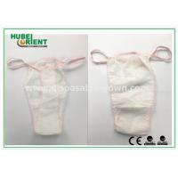 Quality Soft Nonwoven Ladies Disposable T Back Panty for Salons , Tanning Centers and Massages for sale