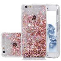 Apple IPhone 7 Hard Cell Phone Cases Flowing Liquid Floating Glitter Diamond Sparkle