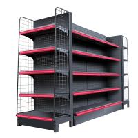 Quality Double Side Supermarket Display Shelving Cold Rolled Steel Material White Color for sale