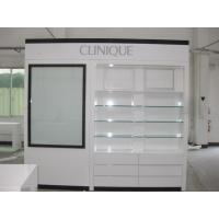 Quality Glass Cosmetics Cabinets Made by Wood with LED Lightings for sale