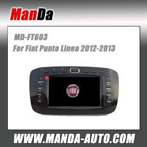 Quality Manda 2 din car audio for Fiat punto Linea 2012-2013 in-dash head unit touch screen dvd gps autoradio for sale