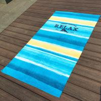 Large Stripe Promotional Beach Towels With Raw Finest Egyptian Cotton