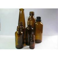 Quality 20ml, 30ml Tawny Comestic Ampere Amber Glass Bottles For Medicial, Chemical for sale