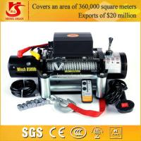 Buy cheap 12v 9000lbs winch wireless remote control portable electric winch from Wholesalers