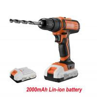 Quality Electric 40 NM 18V Cordless Drill Lithium Ion Battery Powered Stable Performance for sale