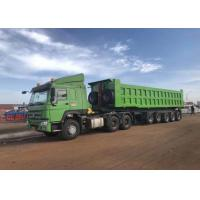 Quality Comfortable Dump Tipper Semi Trailer / Compact Structure Semi Dump Trailers for sale