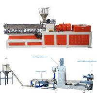 Quality High Capacity Plastic Dual Screw Extruder With Water Ring Pelletizing System for sale