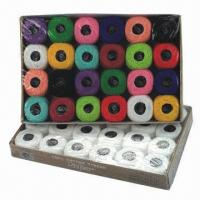 China Cotton Crochet Thread, Various Colors are Available on sale