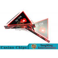 Quality Unique Style Casino Game Accessories , Triangular Shape Poker Playing Cards  for sale