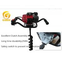 China Garden Hand Tools Petrol Earth Auger / Ground Post Hole Drill Augers By Gas Powered on sale
