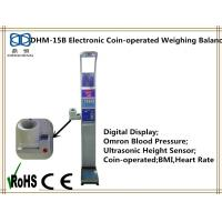 China Electronic coin-operated height and weight measuring scale with bmi blood pressure on sale