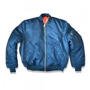 China Popular Men'S Flight Aviator Bomber Jacket , Male Bomber Jacket Polyester Lining on sale