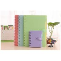 Quality PP cover candy color coil notebook for office and students for sale