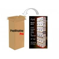 Quality Corrugated 5 Shelf Paper Display Stand Retail POS Displays for iFork Tablewares for sale