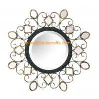 Quality China manufacturer beautiful design antique decorative round shape wall mirror for sale