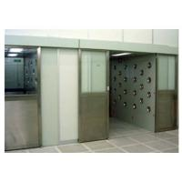Quality Auto Sliding Door Air Shower Booth With Powder Coated Wall / DC Motor for sale