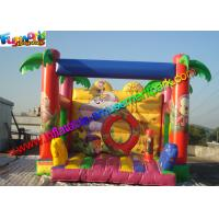 Quality Full Printing Zoo Bouncy Jumping Castles , Moonwalk Bouncer With PVC tarpaulin for sale