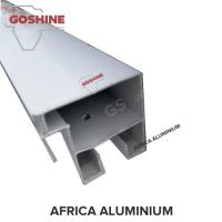 China anodized / powder coated black aluminium alloy extrusion profile for south africa on sale