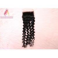 Quality Italy 4x4 Lace Closure Full Cuticle Aligned Deep Wave 100% Virgin Human Hair for sale