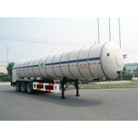 Quality 27000L-3 Axles-Cryogenic Liquid Lorry Tanker for Liquid Carbon Dioxide for sale