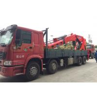 Quality Telescopic 100T Truck Mounted Boom Crane , Lorry Mounted Crane In Red Color for sale
