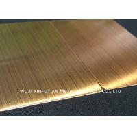 Buy cheap Yellow Ti 304 Stainless Steel Surface Finish Corrosion Resistance For Decoration from wholesalers