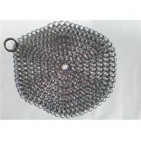 Buy cheap 7 Inch Stainless Steel Chainmail Scrubber For Cookware Cleaning , Round Shape from wholesalers