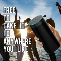 Quality Wireless Voice Controlled Smart WIFI Speaker Black Or Customized Color for sale