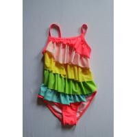 Quality 2017 cute fomfort fabric girl's one piece  rainbow color Swimwear One Piece for sale