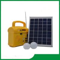 China 10w mini solar panel kits for home off-grid solar power system, solar home lighting kits with FM radio for hot sale on sale