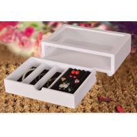 Buy Cute White Wooden Jewelry Organizer Box, Customized Jewelry Gift Boxes at wholesale prices