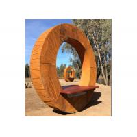 Quality Forging Bench Design Corten Garden Sculpture For Decoration , ODM Available for sale