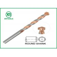 China Round Shank Metric Masonry Drill Bits Copper Plated L Flute For Concrete Brick on sale