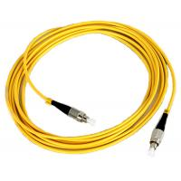 China FC Fiber Patch Cord with Yellow Cable , SM , MM Fiber Optic on sale