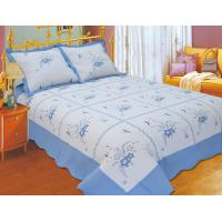 Quality Durable Embroidery Cotton Quilt Sets , Designer Quilt Covers With ISO9001 Certification for sale