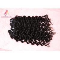 Quality Comfortable Tangle Free Virgin Human Hair Double Weft Curly Hair Extensions for sale